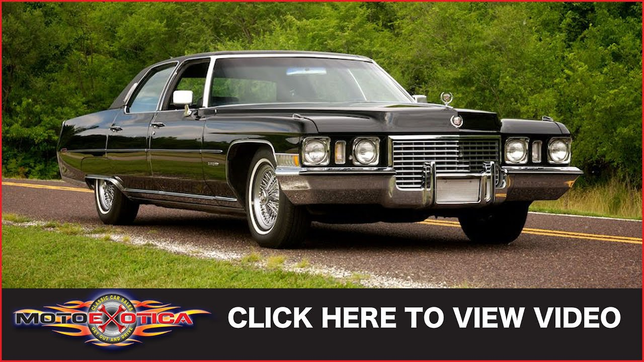 1972 Cadillac Fleetwood 60 Special Brougham (SOLD) - YouTube