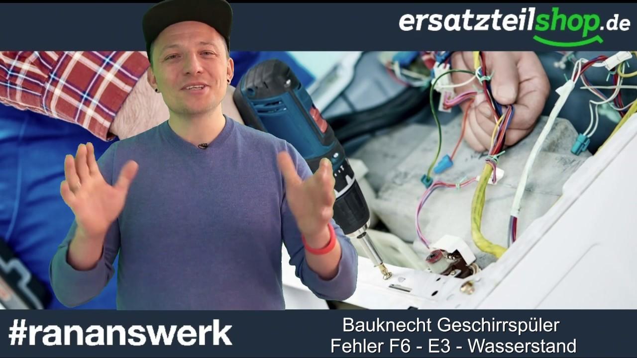 Bauknecht geschirrspüler fehler f6