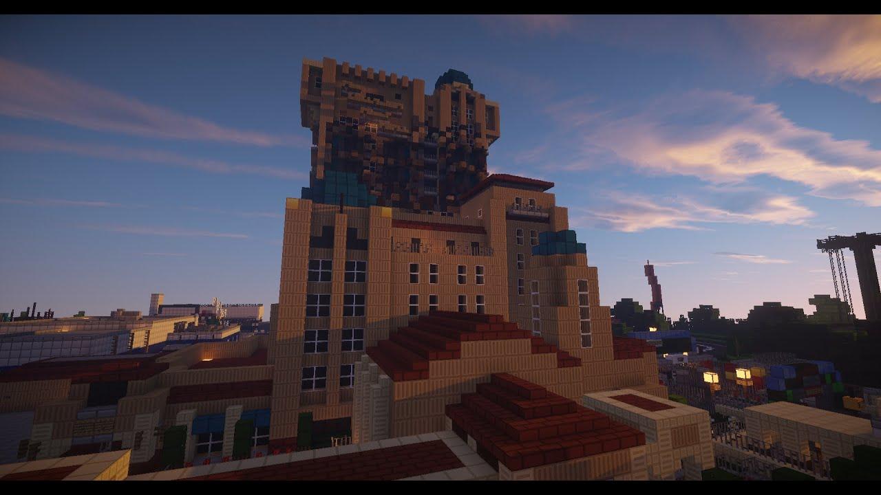 Minecraft - Disneyland Paris Tower Of Terror V3.0