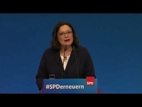 euronews (en español): Andrea Nahles rompe el techo de cristal del SPD alemán