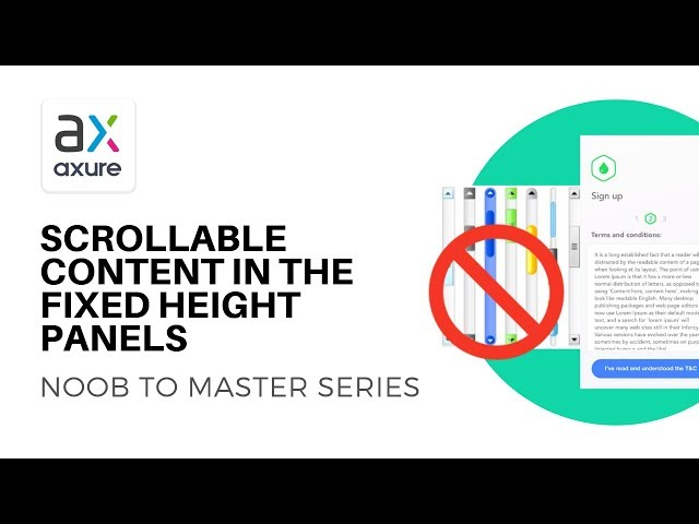 Scrollable Content in Fixed Height Panels | Axure RP: Noob to Master Ep16