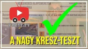 ✅ KRESZ-TV nagy KRESZ-tesztje 1. - Megoldás és magyarázat✅