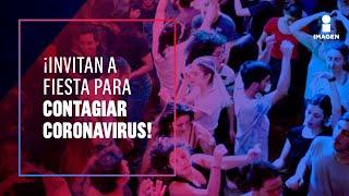 Alertan por difusión de audio con invitación a fiesta masiva de contagio de #COVID19 ¡para generar inmunidad! #SéFuerteMéxico Visita nuestro sitio web: ...