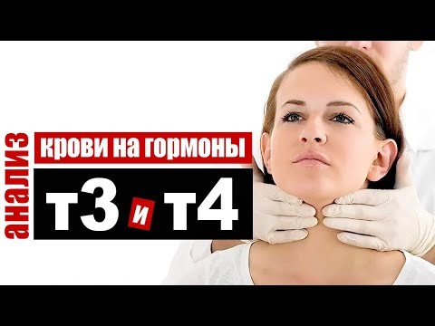Анализ крови на гормоны щитовидной железы T3 и T4 -  трийодтиронин и  тироксин