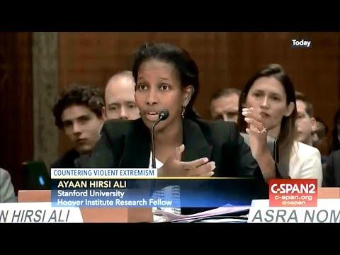 Senate Homeland Security Committee, w Ayaan Hirsi Ali (6-14-17)