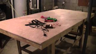 Building My Model Railroad Part 2 - The Work Bench Completed (feb 28, 2013)