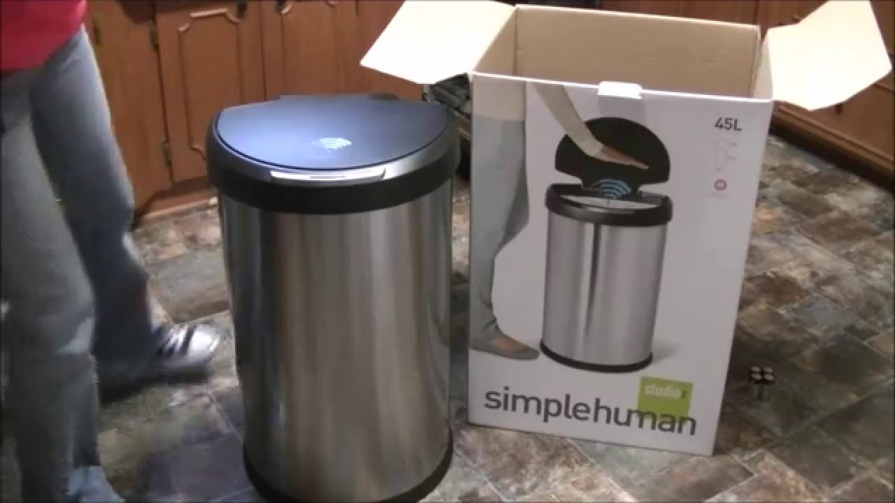 Simple Human Touch Less Trash Can Unboxing And Review