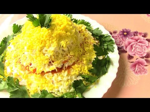 Салат нежный: рецепт приготовления
