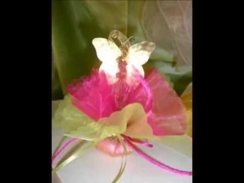 Μπομπονιέρες βάπτισης πεταλούδες