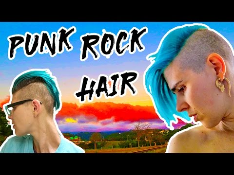Punk Rock Hairstyle for Short Hair 💈 SideCut Hairstyle for Girls ...