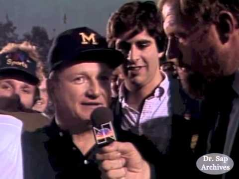 1981 Rose Bowl Bo Schembechler and Anthony Carter