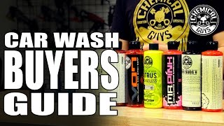 Car Wash Soap Buyers Guide - Chemical Guys Car Care