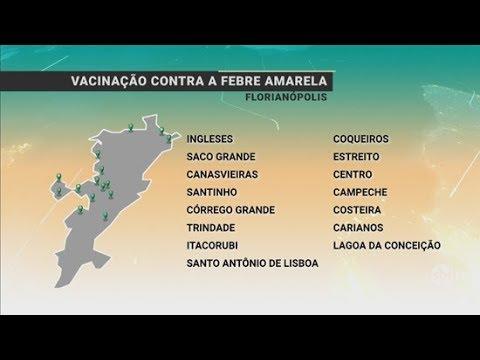 Florianópolis tem vacina contra febre amarela em 15 unidades de saúde