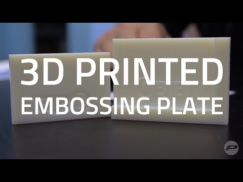 3D Printing Embossing Plates With Polyjet Technology