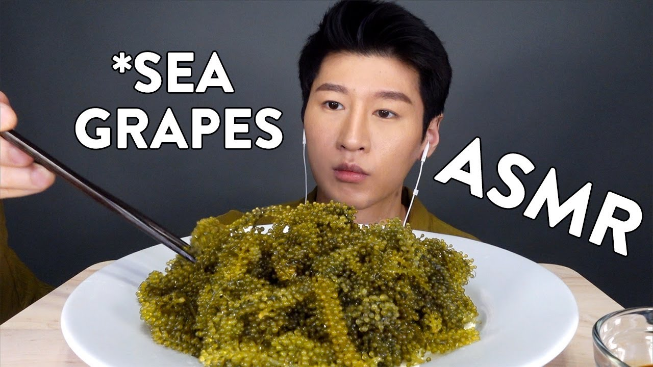 Asmr Raw Sea Grapes No Talking Extreme Crunchy Eating Sounds Zach Choi Asmr