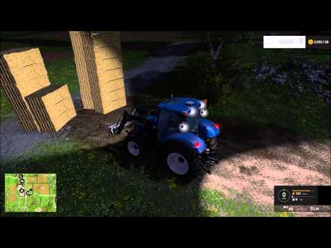 Farming Simulator 15 Gameplay #1 - Selling Big Square Bales With Tractor & Loader