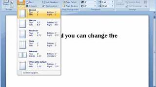 how to change the default margins in word 2016