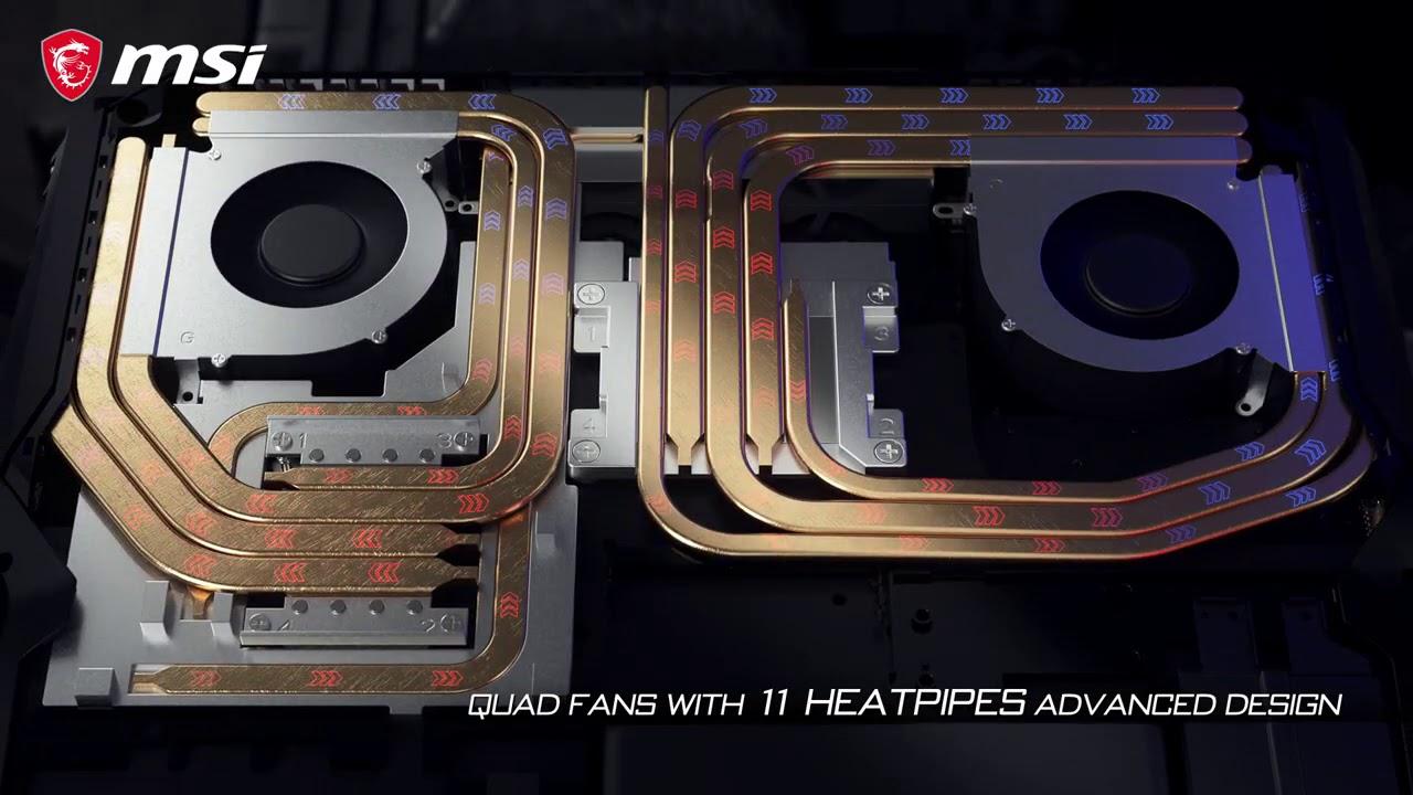 Découvrez la technologie de refroidissement Cooler Boost Titan du GT76 Titan