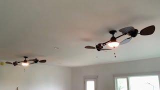 "(2) 74"" Harbor Breeze Twin Breeze Ceiling Fans - Quick Demonstration #25"