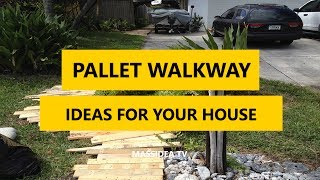 Gambar cover 50+ Best Pallet Walkway DIY Ideas for Your House 2017