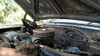 1966 Ford Galaxie first start after 10 years