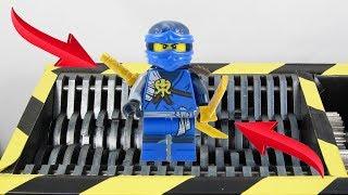 Experiment Shredding Lego Ninjago Jay And Toys | The Crusher