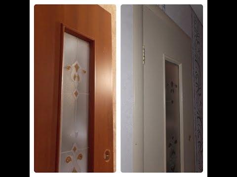 Как покрасить дверь из экошпона