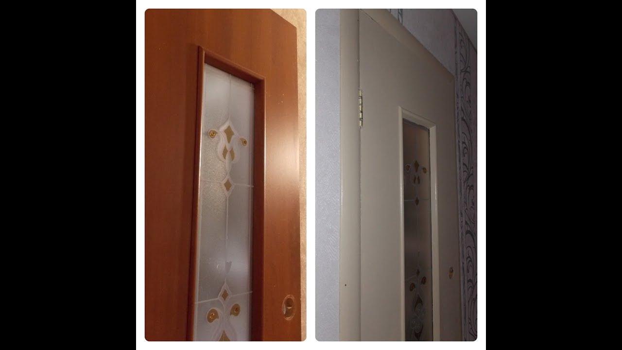 покраска двери из темного в светлый без ошкуривания