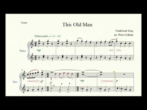 This Old Man - Pierre Gallant - Piano Repertoire 1