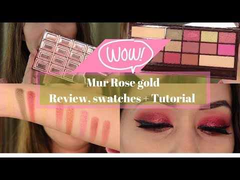 Makeup Revolution/ I heart Makeup ROSE GOLD CHOCOLATE Palette Review & swatches + Tutorial