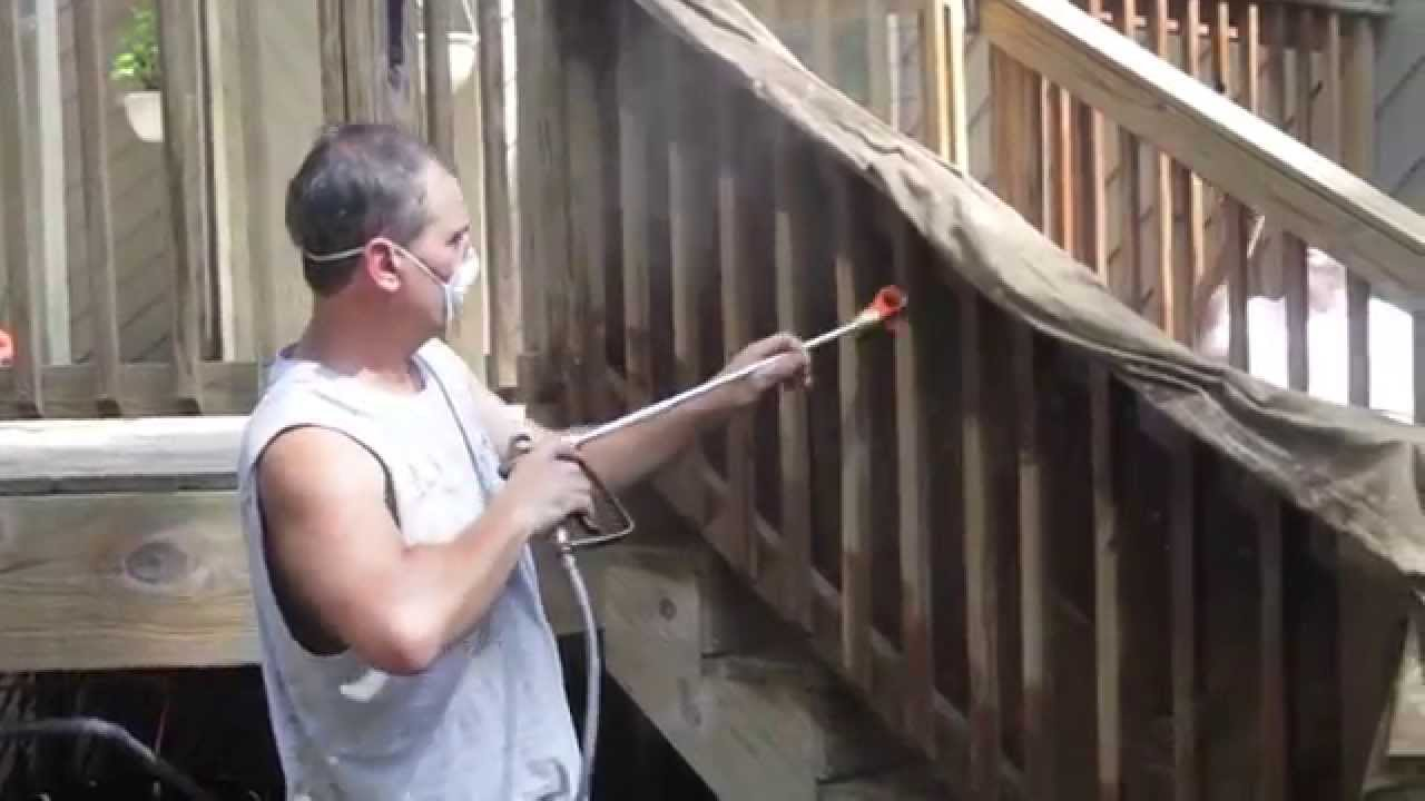 Revitalizing a pressure treated wood deck pt 2 staining youtube baanklon Image collections
