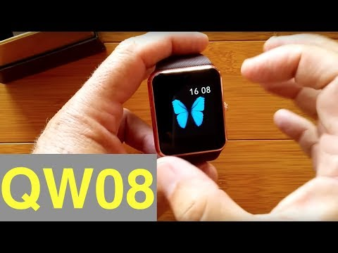 "TenFifteen QW08 ""Apple Like"" Android Smartwatch: Unboxing & 1st Look"