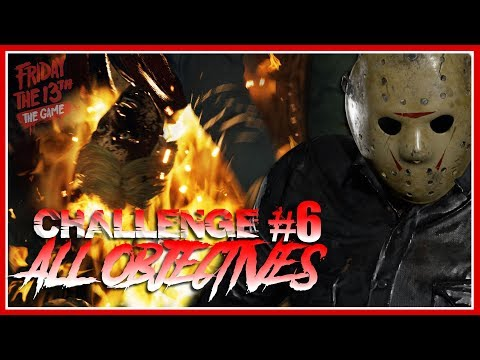 Single Player Challenge #6 | PROPELLER! | ALL OBJECTIVES COMPLETE | Friday the 13th: The Game