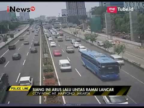 Pantauan Arus Lalu Lintas di Sejumlah Wilayah di Jakarta - Police Line 29/09