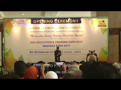 Opening Ceremoni Pameran Pendidikan Education dan Training Expo 1-5 Februari 2017