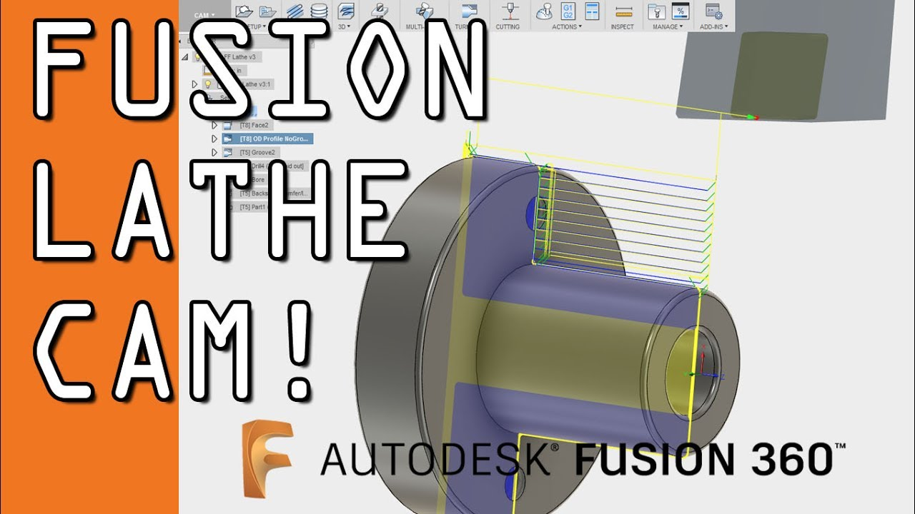 Fusion 360 Lathe Cam Tutorial Ff89 Youtube Mazak Wiring Diagram Nyc Cnc