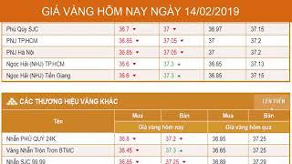 GIÁ VÀNG HÔM NAY NGÀY 14/02/2019 - Vàng SJC - PNJ - DOJI - Vàng GOLD - vàng thế giới -vàng 9999