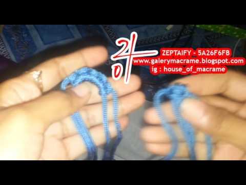 tutorial tas tali kur membuat Kepala Simpul Setengah Lingkaran by zeptaifyx