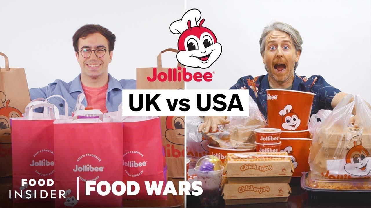 US vs UK Jollibee | Food Wars