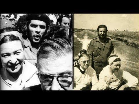 Sartre, Simone de Beauvoir y el Che Guevara....