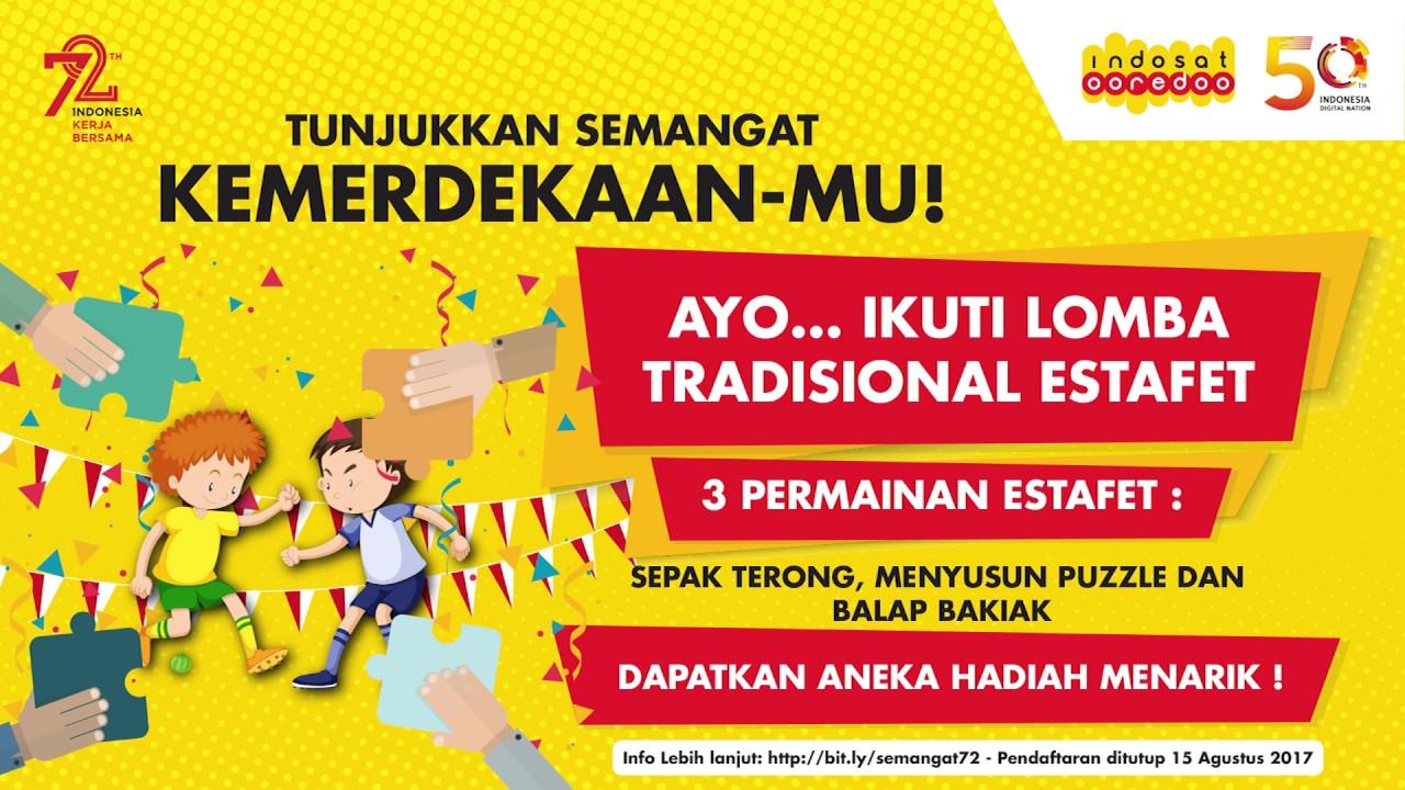Rangkaian Hari Kemerdekaan Ri Ke 72 Di Indosat Ooredoo Youtube