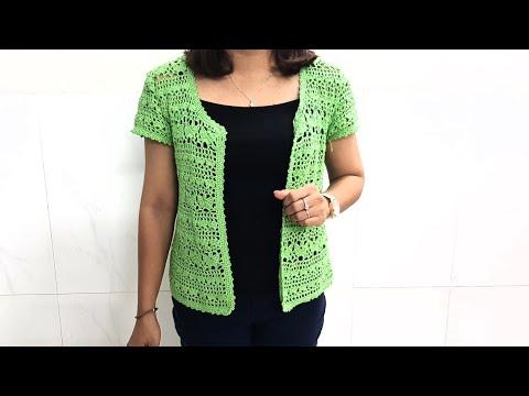 HƯỚNG DẪN MÓC ÁO KHOÁC NHẸ ( Phần 1)// Crochet Coat