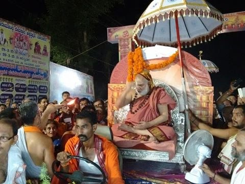 Welcome Procession Of Jagadguru Sri Sri Bharathi Tirtha Sri Sri