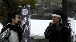 5/3 清洲城にて。 名古屋おもてなし武将隊と矢野きよ実さんがトークショ...