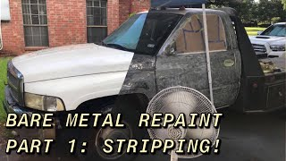 How To Strip A Truck Down To Bare Metal! Aircraft Paint Remover!