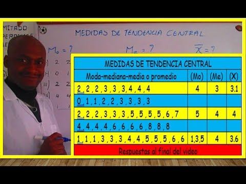 MEDIDAS DE TENDENCIA CENTRAL(MODA-MEDIANA-MEDIA O PROMEDIO)