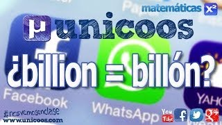 BILLION = BILLON?? unicoos nosvemosenclase Facebook compra Whatsapp