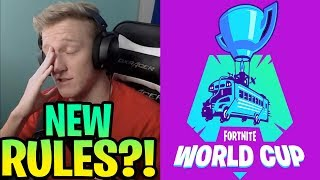 STREAMERS *REACT* TO FORTNITE WORLD CUP NEW RULES | STRETCHED RESOLUTION AND CONSOLE PLAYING REMOVED