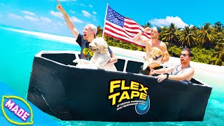 We Made a Boat Out of Flex Tape!!!