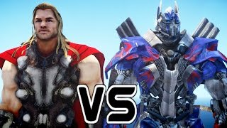 THOR VS OPTIMUS PRIME (Transformers) - EPIC BATTLE